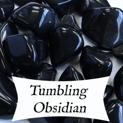rock tumbling obsidian