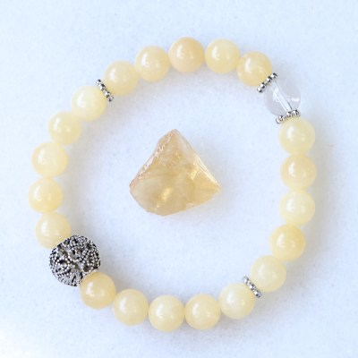reiki charged honey calcite bracelet