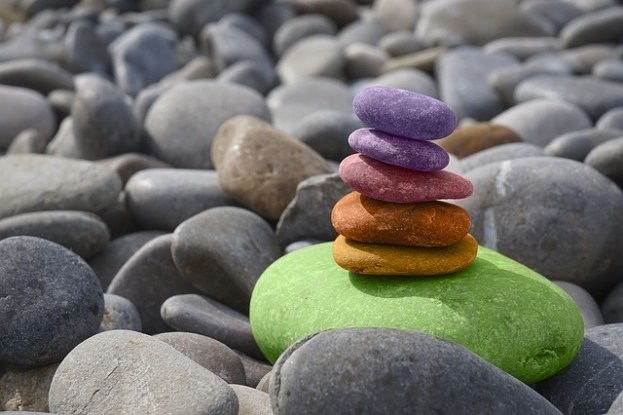 Reiki beach stones picture