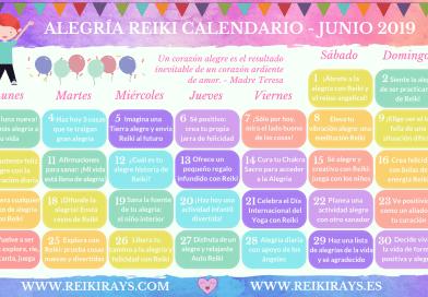 Alegría Reiki Calendario - Junio 2019