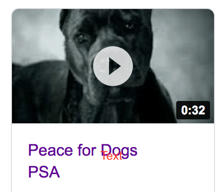 Dogs Speak On Peace For Dogs