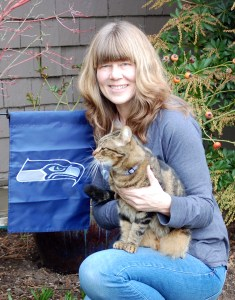 Seahawks Flag, Rose and 12th Cat Manitou ©Rose De Dan www.reikishamanic.com