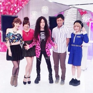 With Beauty Versus team at Fuji TV Studio Oddaiba