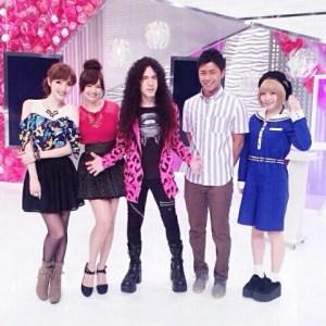With Beauty Versus team at Fuji TV Studio Oddaiba