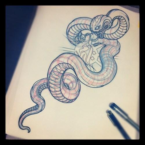Snake, Bonji, 大蛇, 蛇, 梵字, japanese, irezumi, 刺青, reiko, tattoo,