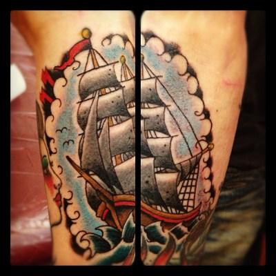 #sailingship #sailingboat #sailingvessel #tattoo #帆船 #船 #タトゥー