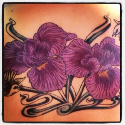 #iris #flower #tattoo #菖蒲 #しょうぶ #アヤメ#tattoo  #keentattoo #タトゥー