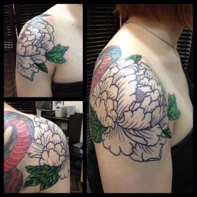 #peony #tattoo  #牡丹 #タトゥー