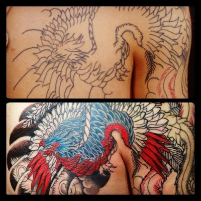 #phoenix #coverwork #repair #fixup #remake #japanesetattoo #tattoo #鳳凰 #タトゥー #カバーアップ