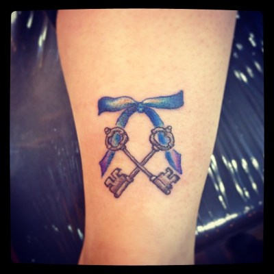 #key #ribbon #ankle #tattoo #カギ #タトゥー