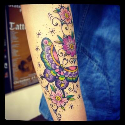 #butterfly #cosmos #tattoo #チョウ #コスモス #タトゥー