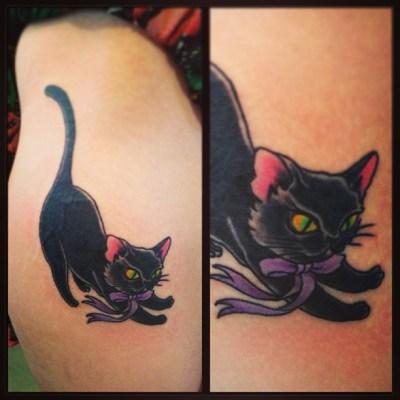 #cat #tattoo #猫 #タトゥー #reikotattoo (ٛ⁎꒪̕ॢ ˙̫ ꒪ٛ̕ॢ⁎)にゃお