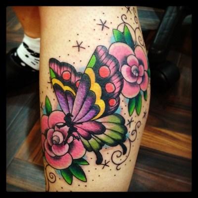 #butterfly #fairy #rose #tattoo #チョウ #妖精 #花 #バラ #タトゥー