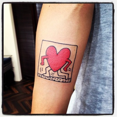 #keithharing #forever #idoltattoo #tattoo #キースへリング #タトゥー #やっぱり可愛い