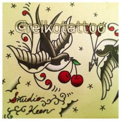 #swallow #tattoo #design #flash #ツバメ #タトゥー #デザイン