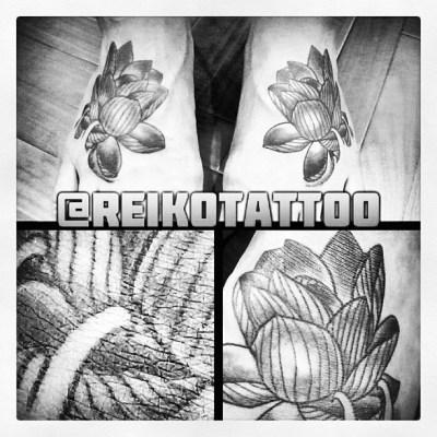 #lotus #tattoo #ハス #蓮 #タトゥー #reikotattoo #studiokeen #名古屋