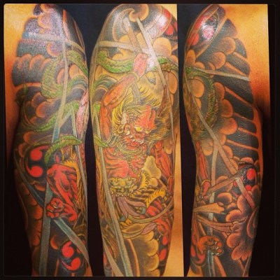 #Raijin #japanese #tattoo #雷神 #タトゥー