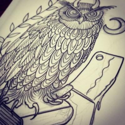 #Owl #sketch #tattoo #design