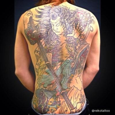 in progress 〜 #早く続きがやりたいなぁ♡ #チョーお気に入り  #KumonryuShijin #Suikoden #Japanese #tattoo #九紋龍史進 #刺青 #タトゥー #水滸伝