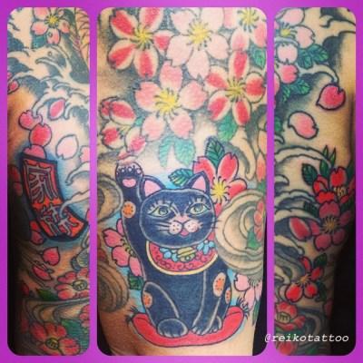 #ManekiNeko #tattoo #招き猫 #タトゥー