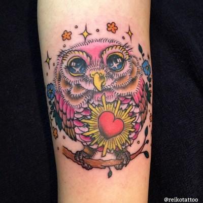 #owl #tattoo #フクロウ #ミミズク #タトゥー #reikotattoo #studiokeen #名古屋 #大須 #矢場町