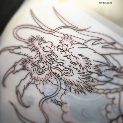 #sketch #dragon #design #tattoo #reikotattoo #studiokeen #名古屋 #大須 #矢場町