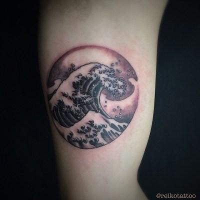 #KanagawaGreatWaves #Hokusai #tattoo #北斎 #波 #タトゥー #studiokeen #reikotattoo #名古屋 #大須 #矢場町