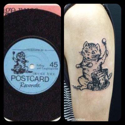 #logo #PostcardRecords #tattoo #ロゴマーク #ポストカードレコード #タトゥー #reikotattoo #studiokeen #名古屋 #矢場町 #大須