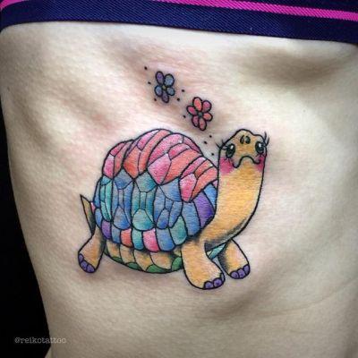 #カメ #パステル #タトゥー #turtle #tattoo #pastel  #reikotattoo #studiokeen #nagoyatattoo #japan #名古屋 #大須 #矢場町