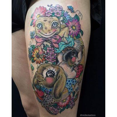 #トカゲ #モルモット #ウサギ #タトゥー #Lizard #gineapig #rabbit #tattoo #reikotattoo #studiokeen #japan #nagoyatattoo #tokyotattoo #名古屋 #東京 #静岡 #矢場町 #大須 reikotattoo.com