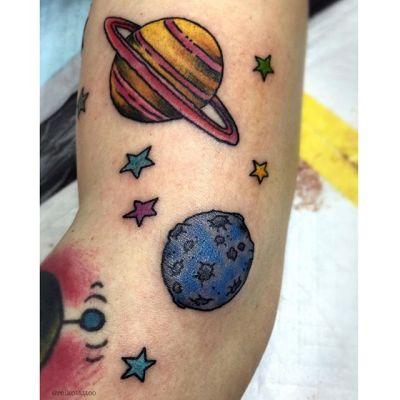 #土星 #月 #星 #タトゥー #Saturn #moon #stars #reikotattoo #studiokeen #japan #nagoyatattoo #tokyo #名古屋 #矢場町 #大須 #東京 #静岡