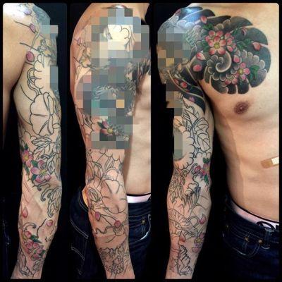#刺青 #タトゥー #桜 #japanesetattoo #tattoo #reikotattoo #studiokeen #japan #nagoyatattoo #tokyotattoo #名古屋 #大須 #矢場町 #東京 #静岡 #hocuspocustattoo #shizuokatattoo