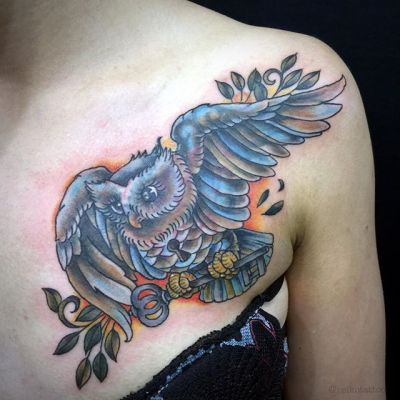 #ふくろう #タトゥー #owl #tattoo #reikotattoo #studiokeen #japan #nagoyatattoo #tokyotattoo #名古屋 #大須 #矢場町 #東京 #静岡 #hocuspocustattoo #shizuokatattoo