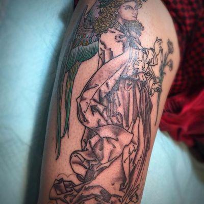 #ガブリエル #大天使 #wip #gabriel #archangel . . . #tattoo #reikotattoo #studiokeen #japan #nagoyatattoo #tokyotattoo #irezumi #タトゥー #刺青 #名古屋 #大須 #矢場町 #東京 #静岡 #hocuspocustattoo #shizuokatattoo