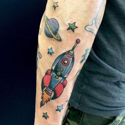 #rocket #ロケット ...#tattoo #reikotattoo #studiokeen #japan #nagoyatattoo #tokyotattoo #irezumi #タトゥー #刺青 #名古屋 #大須 #矢場町 #東京 #静岡 #hocuspocustattoo #shizuokatattoo