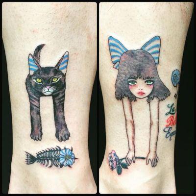 #女の子 #猫 #宇野亜喜良 #akirauno ...#tattoo #reikotattoo #studiokeen #japan #nagoyatattoo #tokyotattoo #irezumi #タトゥー #刺青 #名古屋 #大須 #矢場町 #東京 #静岡 #hocuspocustattoo #shizuokatattoo