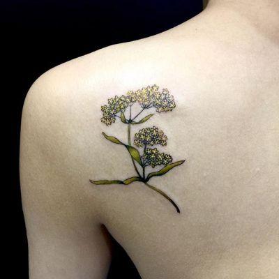 #女郎花 #smallflower #ominaeshi ...#tattoo #reikotattoo #studiokeen #japan #nagoyatattoo #tokyotattoo #irezumi #タトゥー #刺青 #名古屋 #大須 #矢場町 #東京 #静岡 #hocuspocustattoo #shizuokatattoo