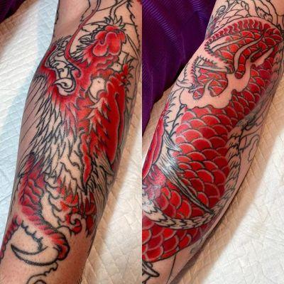 #dragon #龍 #wip ...#tattoo #reikotattoo #studiokeen #japan #nagoyatattoo #tokyotattoo #irezumi #タトゥー #刺青 #名古屋 #大須 #矢場町 #東京 #静岡 #hocuspocustattoo #shizuokatattoo