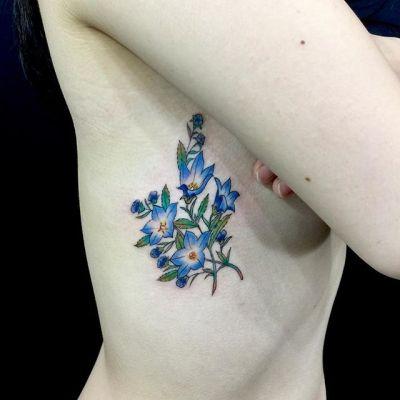 #桔梗 #platycodon ...#tattoo #reikotattoo #studiokeen #japan #nagoyatattoo #tokyotattoo #irezumi #タトゥー #刺青 #名古屋 #大須 #矢場町 #東京
