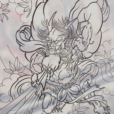 #風神 #Fujin #sketching ...#tattoo #reikotattoo #studiokeen #japan #nagoyatattoo #tokyotattoo #irezumi #タトゥー #刺青 #名古屋 #大須 #矢場町 #東京
