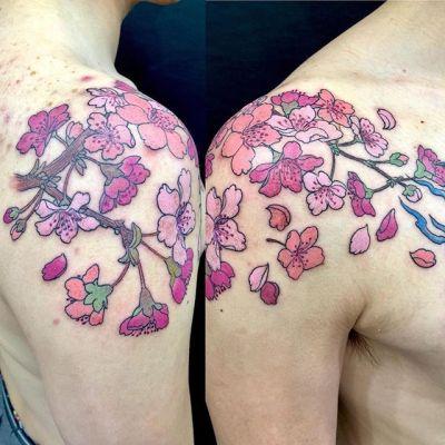 #桃の花 #peachblossom ...#tattoo #reikotattoo #studiokeen #japan #nagoyatattoo #tokyotattoo #irezumi #タトゥー #刺青 #名古屋 #大須 #矢場町 #東京