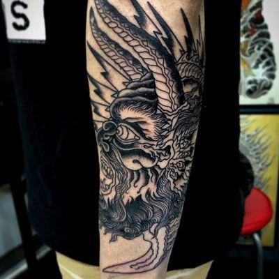 #wip #demon #悪魔 #途中経過 ...#tattoo #reikotattoo #studiokeen #japan #nagoyatattoo #tokyotattoo #irezumi #タトゥー #刺青 #名古屋 #大須 #矢場町 #東京