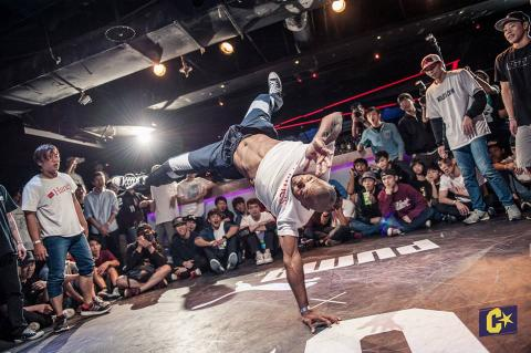 BBoy Iron Monkey, 2014 Challenge Cup Finals. Photo Courtesy of Challenge Cup Finals