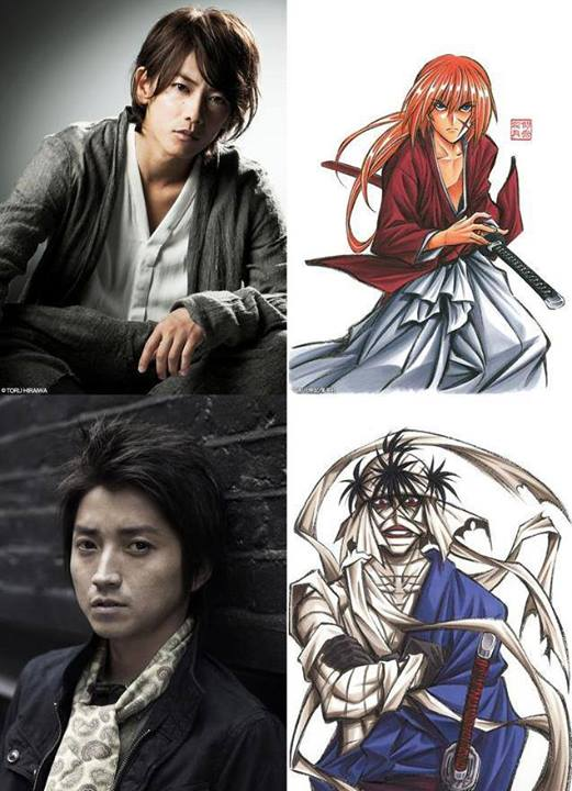 Actor Takeru Sato plays Kenshin while Tatsuya Fujiwara plays the ultimate rival, Makoto Shishio.