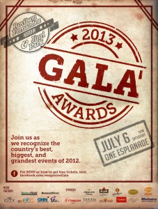 Gala Awards 2013 Poster