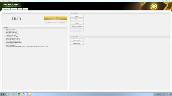 PC Mark result for GIADA D310-C1037