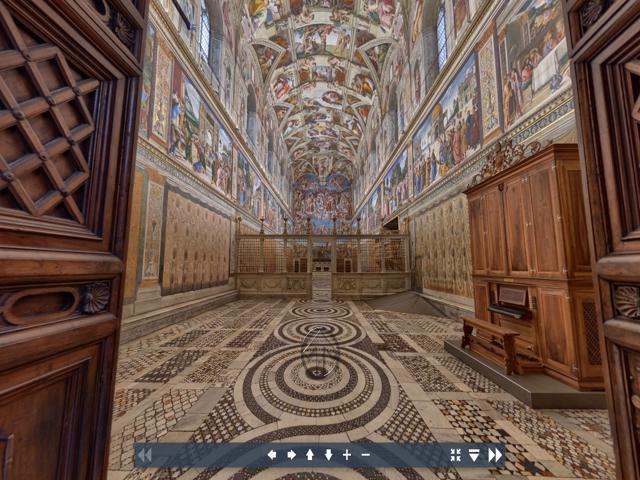 Exposiciones virtuales de los museos del Vaticano, la Capilla Sixtina