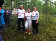 1st place: Ms. Varvara Struchova, Sakha Republic, Russia, 2nd place: Mrs. Risten J. Gaup Eira, Norway; 3rd place: Ms. Erika Jonsson, Sweden; Photo credit: reindeerherding.org