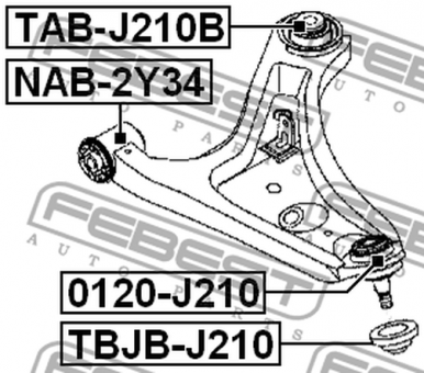 0120-J210 BALL JOINT OEM to compare: #48068-B4010; #48068
