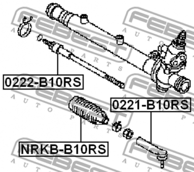 0221-B10RS OUTER TIE ROD END OEM to compare: 48520